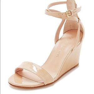New Stuart Weitzman patent Backdraft sandal